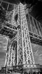 George Washington Bridge (Peter Smejkal) Tags: georgewashingtonbridge infrared newyorkcity