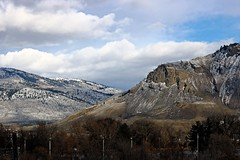 First snow (Jessie T*) Tags: mountain landscape mountainside snow kamloopsbc winter clouds