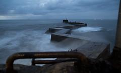 St Monans (Mr_Souter) Tags: october scotland storm uk dawn breakwater places stmonans 2016 europe blustery waves