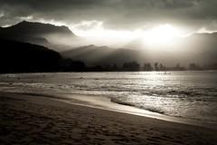 Copy of Kauai b&w58-2 (chiarina2016) Tags: kauai hawaii island beach monotone blackandwhite chiarinaloggia stormyseas waves trails hiking surf hanalei hanaleibeach sunset