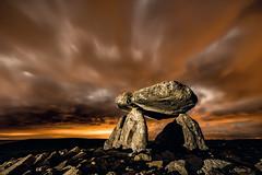 The time portal. (darklogan1) Tags: nightphotography dolmen longexposure rocks logan darklogan1 alava basque spain ngc outdoor sky landscape serene cloud