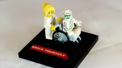 Me and my nurse :)   #brickyourself #brickmandan #makeyourselfinlego #lego #legowheelchair