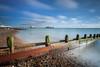 Time & Tide (S l a w e k) Tags: worthing west sussex england uk gb coast coastal scene sea defence seaside groyne beach longexposure pier sunny blue sky blurred motion travel europe