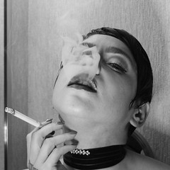 Johannie 12 (RARstudios) Tags: smoking model 1457488 johannie nude pose indoor ballyscasino atlanticcity november15 blackandwhite