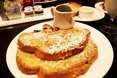 Breakfast (spufflez) Tags: food breakfast french toast strawberries maple syrup frenchtoast strawberry maplesyrup milk jam jelly
