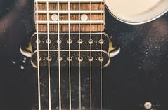 My dirty old 7-string (shanecotee) Tags: electric guitar strings pickups details macro ibanez ltd esp