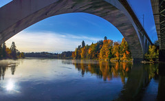 Curve (Kari Siren) Tags: curve bridge water river railway kymijoki kouvola koria finland