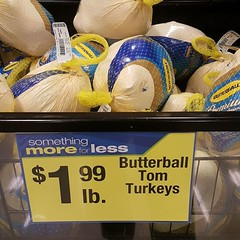 Turkeys sure are cheap after Thanksgiving!