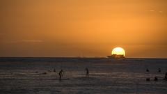 Waikiki Sunset (Oliver Leveritt) Tags: nikond7100 afsdxvrnikkor18200mmf3556gifed oliverleverittphotography hawaii oahu waikiki waikikibeach sunset surfers ship