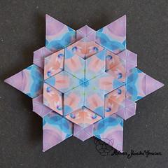 Iimori Star E (Day 45) (Yureiko) Tags: yureiko tessellation papierfalten papier origami paperfolding paper