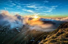 Sunrise from Pen-Y-Fan (karlmccarthy1969) Tags: dragons breath clouds mountains mountain wales sky breconbeacons longexposure