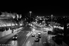 DSCF9700 (Joshua Williams' Photography) Tags: jerusalem israel bw night oldcity