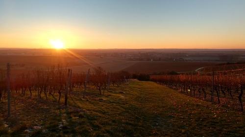 Sonnenaufgang über Selztal