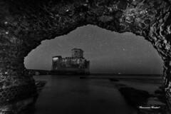 Posti magici (dwarfphotos) Tags: torreastura latina allaperto notte stelle lowlight nikon d5200 sigma1020mm blackandwhite landescape art