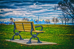 Toronto Skyline from Cliff Lumsdon Park (A Great Capture) Tags: cliff lumsdon park clifflumsdonpark agreatcapture agc wwwagreatcapturecom adjm ash2276 ashleylduffus ald mobilejay jamesmitchell toronto on ontario canada canadian photographer northamerica torontoexplore spring springtime 2016 city downtown lights urban colours colors light sun sunny sunshine cityscape urbanscape eos digital dslr skyline urbannature sky himmel scenery scenic clouds nuvole wolken street photography cntower cn tower bench seat chair