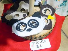 Fun felt ornaments and masks by Made by Shellmo, Shelly Monsurinjohn (marketkim) Tags: holidaymarket stockingstuffers animallovers kidslike product eugene oregon saturdaymarket festival artfair eugenesaturdaymarket artfestival