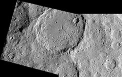 Cracked Ceres Crater (sjrankin) Tags: 8december2016 edited nasa panorama grayscale crater cracks ceres dawn primage