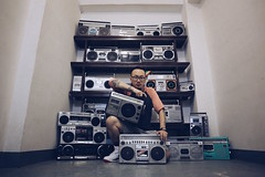 BIG FAMILY! (yphoz) Tags: boombox boomboxery oldschool hiphop music radio dotherightthing vintage sony sanyo hitachi sharp collection