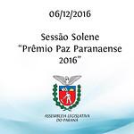 Sessão Solene - Prêmio Paz Paranaense 2016