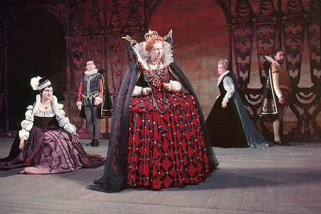Joan Cross as Elizabeth I in The Royal Opera's original production of Gloriana © Roger Wood Collection at Royal Opera House Collections