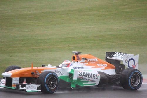 Paul Di Resta in his Force India in FP1 at the 2013 British Grand Prix