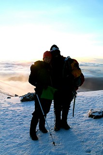 Kelsey with her Kilimanjaro support guide