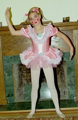 Ballet sissy (shellyanatine) Tags: pink dress crossdressing sissy petticoat frilly