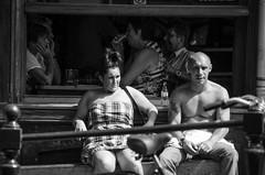 (105mm) Tags: street people sun sexy girl sunglasses amsterdam phone candid skirt mensen