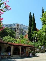 Taverna and campanile (pefkosmad) Tags: vacation holiday church exterior greece greekislands rhodes dodecanese stnektarios archipoli rhodes2013 stnectarius