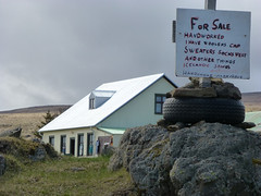 Farmhouse with sweaters for sale (3 Wild Sheep) Tags: buildings iceland icelandic