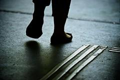 step by step (reyesallan38) Tags: street contrast foot shoe blind step