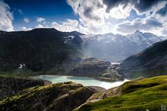 glacier meltwater reservoir (gregor H) Tags: lake austria krnten carinthia grossglockner stausee carlzeiss hochalpenstrasse distagont3518 margaritze