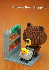 Character Series - Brownie Bear (inanoblock) Tags: bear brown cute funny lego bricks steps ducky brownie instructions blocks build nanoblock  nanoblocks