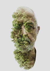 Nature Boy (Alessio Albi) Tags: portrait man art nature face nikon doubleexposure explore 10000 ritratto 20000 d600