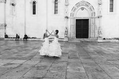 Dancing on the piazza #1 (Adrien Zograffi) Tags: life street people urban bw calle strada personas persone vida rue croazia personnes vita vie