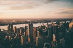 NYC from above (Cedpics) Tags: nyc sunset usa newyork skyline buildings newjersey manhattan ciel shore hudsonriver immeuble thephotographyblog