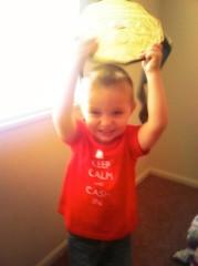 Nate Slinker got his son a custom-made Heel Shirt