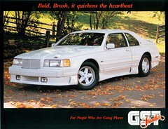 1988 Lincoln Mark VII GST by Stauffer (coconv) Tags: pictures auto old classic cars car by vintage magazine ads advertising cards photo flyer aut