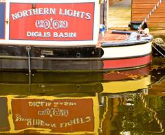 NARROWBOAT REFLECTION (chris .p) Tags: uk autumn england colour reflection water marina reflections boat canal nikon october basin worcestershire narrowboat worcester waterways diglis 2013 d7000