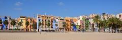 Mediterranean  Beach (Ginas Pics) Tags: vacation españa beach smart spain holidays colorful mediterranean tourist costablanca ginaspics historictown villajoiosa mediterraneanlandscape mediterraneantown mediterraneanbeach bestofspain httpginanews05blogspotcom reginasiebrecht