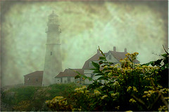 Portland Head Light on a Foggy Day (Dino Langis) Tags: art bravo lighthouses image contemporary textures society legacy tistheseason vividimagination artdigital trolled awardtree redmatrix daarklands exoticimage pinnaclephotography untouchabledream