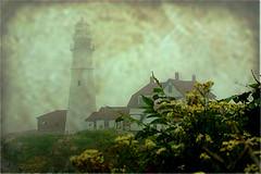 "Portland Head Light on a Foggy Day (Dino Langis) Tags: art bravo lighthouses image contemporary textures society legacy tistheseason vividimagination artdigital trolled awardtree redmatrix daarklands exoticimage"" pinnaclephotography untouchabledream"
