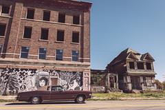 Corktown Neighborhood (Detroit, MI) (bradleysiefert) Tags: building car architecture buildings landscape graffiti decay michigan detroit landmark neighborhood historical corktown