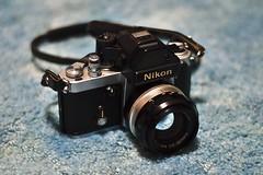 Nikon F2 with Nikkor 50mm 1.4 SC Auto (DigitalCanvas72) Tags: slr film 35mm photography 35mmfilm f2 nikonf2 olddays vintageslr vintagenikon nikkor50mmf14scauto