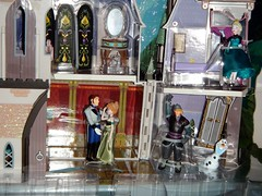 Frozen Castle of Arendelle Play Set - US Disney Store Purchase - First Look - Deboxing - Attached to Backing And Plastic Base and Lid - Midrange Front View - Cast of Frozen Restrained (drj1828) Tags: anna castle olaf frozen us furniture hans figure purchase elsa playset disneystore firstlook kristoff deboxing 2013 4inch arendelle