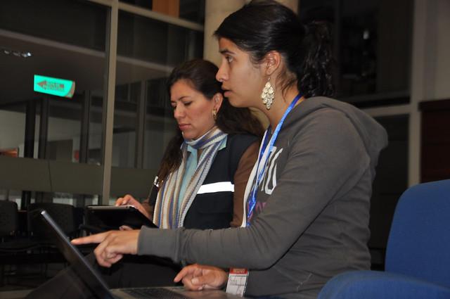 Participantes a la expectativa de la página web.