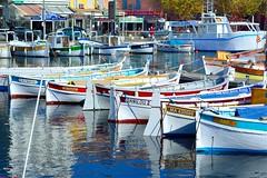 La Ciotat Vieux Port : Danilou II, Pat et Le Pre Louis (Pantchoa) Tags: france reflections boats nikon harbour pat ctedazur provence nikkor 50mmf18d vieuxport laciotat oldharbour d7100 vision:text=0722 vision:sky=0599 vision:outdoor=0618 leprelouis danilouii