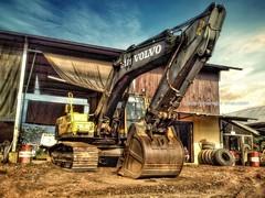 Rest for a while (deden) Tags: indonesia volvo mining coal hdr excavator anggana