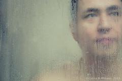Fogged (bionicgirlnyc) Tags: portrait man male wet face fog shower bath steam