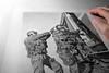 DessinsTactiques - Dessin Original GIGN Assaut TGV (Part II) (DessinsTactiques.com) Tags: backup art train pencil design artwork police dessin laser guns swat weapons tgv nra feuille sncf commandos 9mm specialforces artiste armes gendarme chasuble visuel munitions dessiner graphisme cagoule gendarmerie surefire counterterrorism cartouches gign arméedeterre mitaines 357magnum 9x19 assaut graphitepencils masqueàgaz machinepistol specialunit armement antiterrorisme forcesspéciales casquelourd hkmp5a5 pistoletmitrailleur davidandro dessinpolice manurhinmr73 tacticalartwork dessinmilitaire gantstactiques visièrebalistique frenchsek dessinstactiquescom dessinstactiques dessinoriginal groupesdintervention dessinforcesspéciales crayonsgraphite wwwdessinstactiquescom groupedassaut lunettestactiquebollé gignmarignane format24x32cm raidgign patchgign dessingroupedintervention